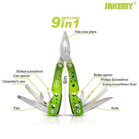jakemy pj-1003 9 in 1 premium multifunctional combined pocket plier great gift idea for men