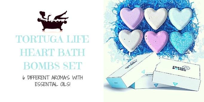 Tortuga Life Heart Bath Bombs Set