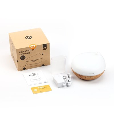ominihome 300ml aroma essential oil diffuser with ultrasonic cool mist humidifier and 7 changing led light