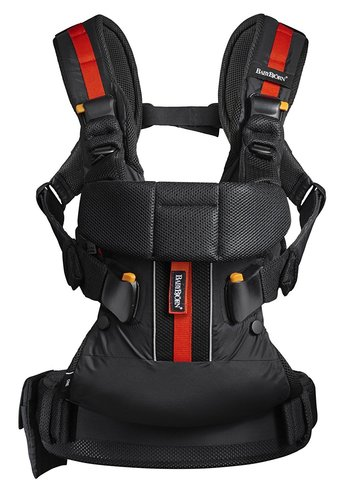 babybjorn hip-healthy baby carrier one outdoors four-way front and back carrying with smart storage bag