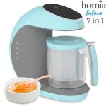 homia 7 in 1 multifunctional baby food processor with smart touch panel, auto shut off and double protection