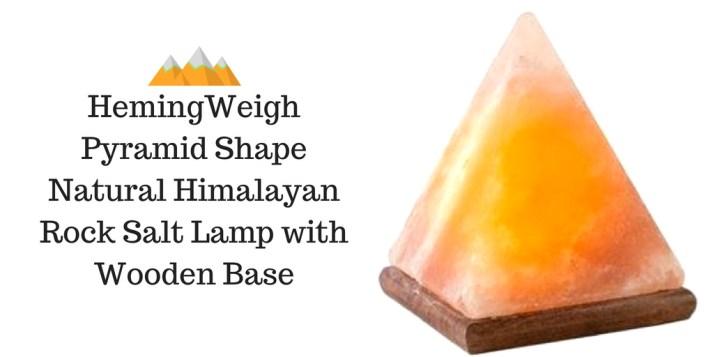 HemingWeigh Pyramid Shape Natural Himalayan Rock Salt Lamp