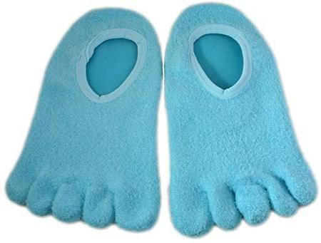 natracure 5-toe moisturizing gel socks for dry feet, cracked heels and treat cuticles