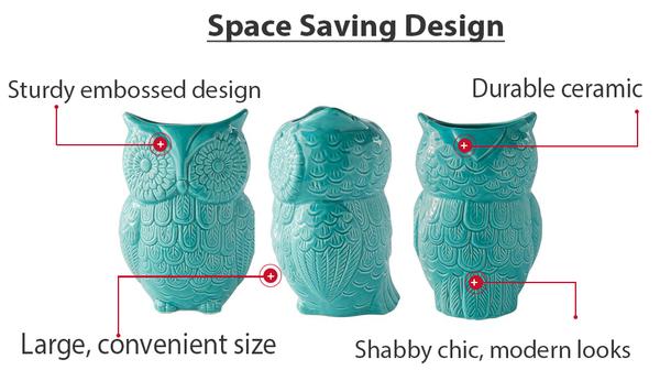 Comfify Ceramic Owl Utensil Holder