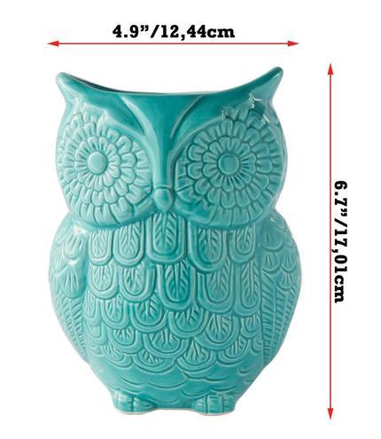 Comfify Large Ceramic Owl Utensil Holder