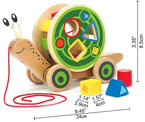 Hape Snail Wooden Pull Toy