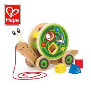 Hape Walk-A-Long Snail Wooden Pull Toy