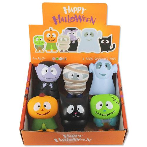 Heytech 6 Pack Slow-rising, Soft, Cute and Fun Halloween Squishies Toys in Gift Box