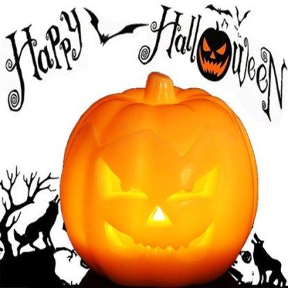 Safe for Kids Jack O' Lantern Halloween Pumpkin Lantern with LED Lights