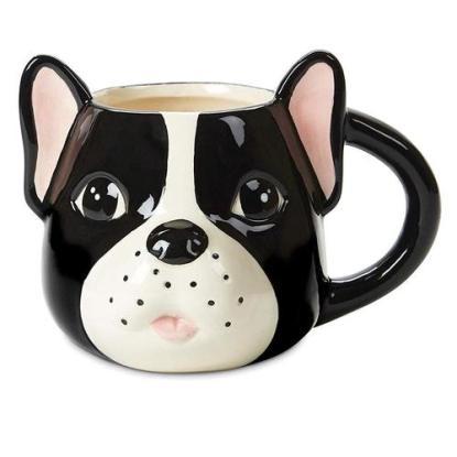 Tri-Coastal Design Cute Pug Dog Face Ceramic Coffee Cup or Tea Mug