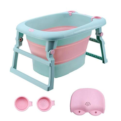 UNAOIWN Growing with Your Baby Baby Bath Folding Tub