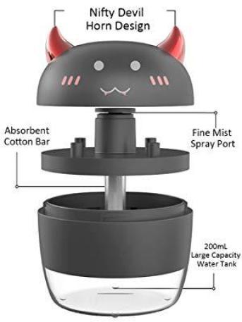 ALLYAG Nifty Devil Horn Design Portable Mini Humidifier Cool Halloween Gift Idea for Kids