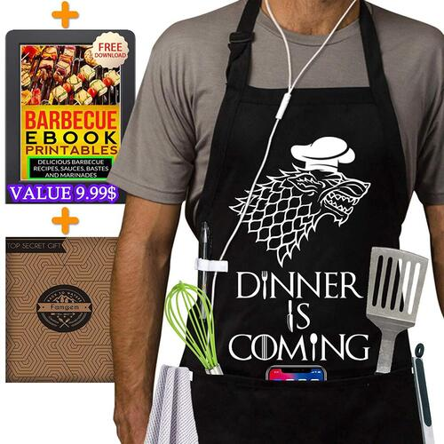 Famgem Aprons with Printing Dinner is Coming