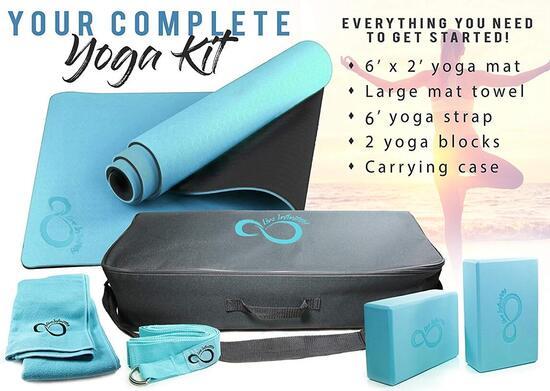 Live Infinitely 6 Piece Complete Yoga Set includes Free Yoga E-book
