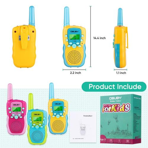 Obuby Walkie Talkie for Kids with 3 km Range Great Gift for Children