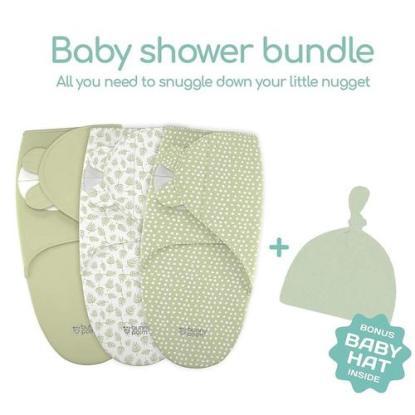 Premium Cotton Bunny Palm Swaddle Blankets