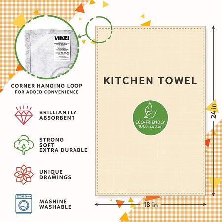 Three Towel and Wooden Spatula Kitchen Housewarming Gift Set by ViKei