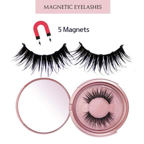 VASSOUL waterproof magnetic eyelashes set included eyeliner, makeup mirror, tweezer