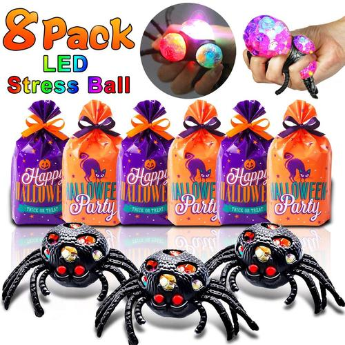 amenon black spider squeeze toys with built-in LED flash ball