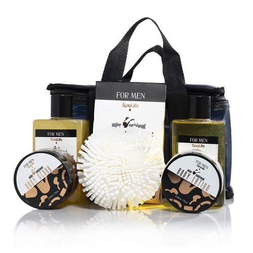 spalife bath and body gift basket for men