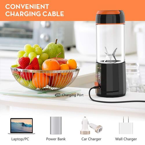 Cordless Small Personal Blender with Led Displayer for Travel, Gym, Office by LOZAYI