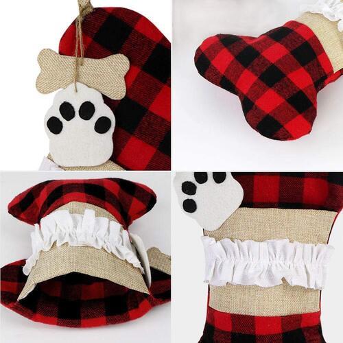 AerWo Large Pet Christmas Stockings 2 pcs with big pocket