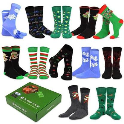 Christmas Holiday Gift 12-Pairs Socks for Man