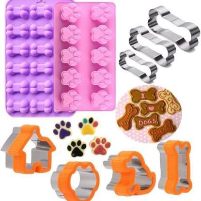 Eke 9 piece Dog Treat Molds