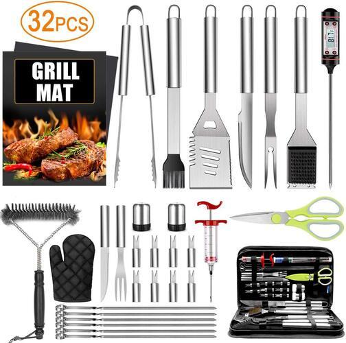 TAIMASI 32 Pcs Premium BBQ Grill Accessories Set