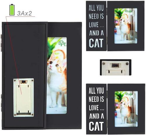 YEASL foldable design pet picture frame with LED lights great memorial gift