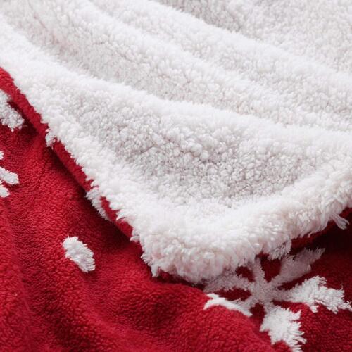 bedsure 100% microfiber velvet surface and sherpa fleece back Christmas blanket