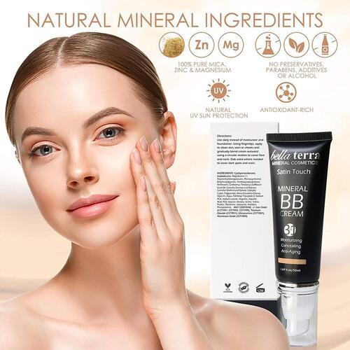 bella terra cosmetics 3 in 1 weightless makeup foundation bb cream