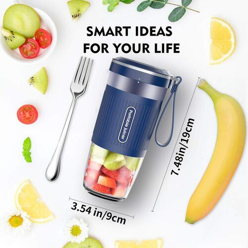 AUZKIN 10oz USB Rechargeable Portable Personal Blender BPA Free Juicer