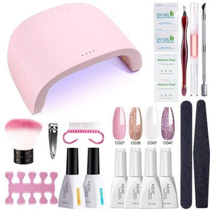 Azure Beauty Gel Nail Polish Starter Kit with 24W UV/LED Lamp