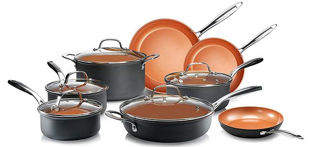 Gotham Steel Pro Hard Anodized Cookware Set