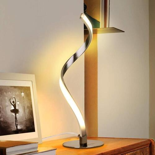Albrillo Dimmable, Touch Control Spiral-Shaped Design LED Desk Lamp with Non-slip Mat