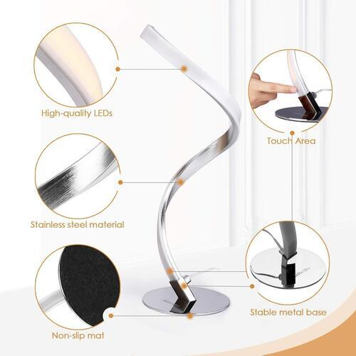 Albrillo Unique Spiral Design LED Desk Lamp