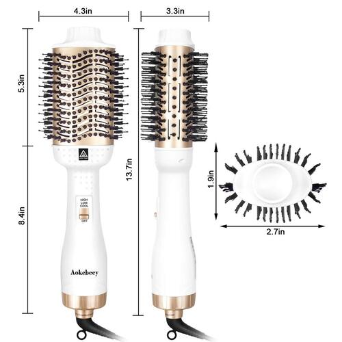 Aokebeey Negative Ions Multifunctional Hair Styling Brush