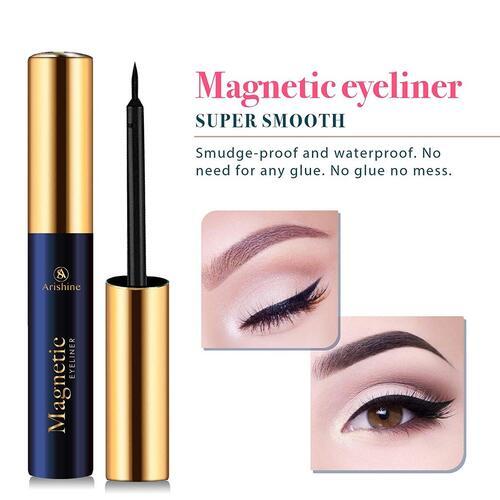 Arishine 5 pairs magnetic eyelashes with eyeliner