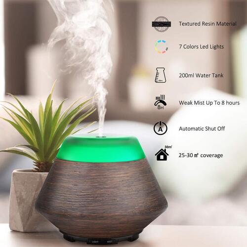 ASAKUKI 200ml Aromatherapy Fragrant Oil Vaporizer