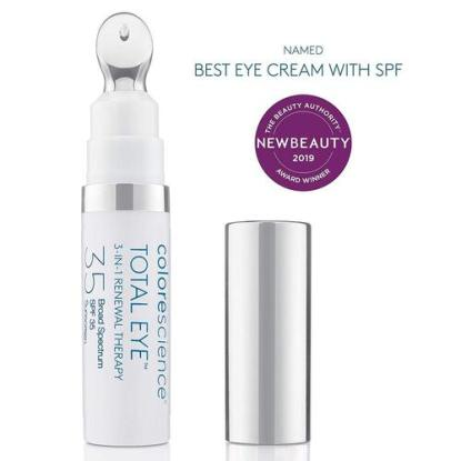 Colorescience Total Eye 3-in-1 Renewal Therapy SPF 35 for Dark Circles, Puffiness, Fine Lines and Wrinkles