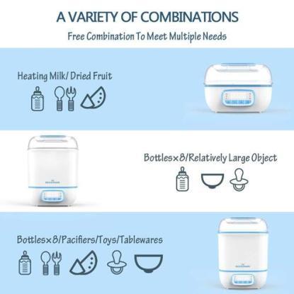 Eccomum Multi-functions Baby Bottle Sterilization, Drying, Milk heating, Dried Fruit