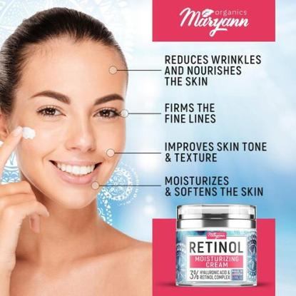 Maryann Organics Moisturizing Cream with Retinol Complex and Hyaluronic Acid