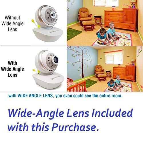 MoonyBaby PAN & TILT Two Cameras Video Baby Monitor with Room Temperature Display and Automatic Night Vision