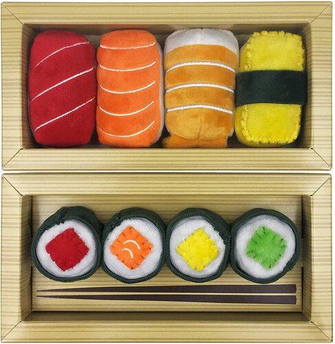 munchiecat 8pcs plush sushi toy set for cats