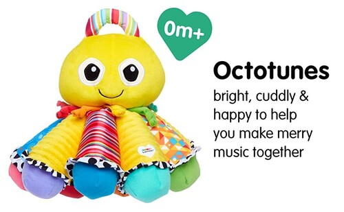 LAMAZE Octotunes Colorful Stuffed Early Child Development Cuddly Baby Octopus Toy