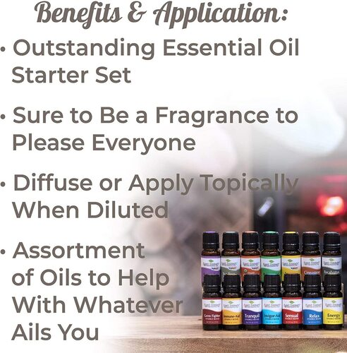 Plant Therapy 7 & 7 Essential Oils Set (7 Singles & 7 Synergies)