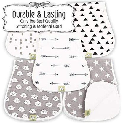 KeaBabies 5-Pack Burp Cloths Set