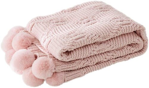 LakeMono Chenille Throw Blanket for Sensitive Skin