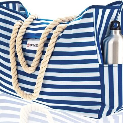 Large Beach Bag with Waterproof Case by SHYLERO